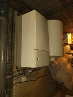 chaudière à remplacer: chaudière saunier duval thema AS non condensation gaz avec son ballon tampon