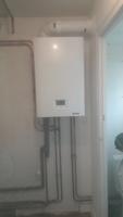 chaudière de remplacement: chaudière gaz condensation frisquet hydromotrix avec création de circuit de chauffage et radiateurs