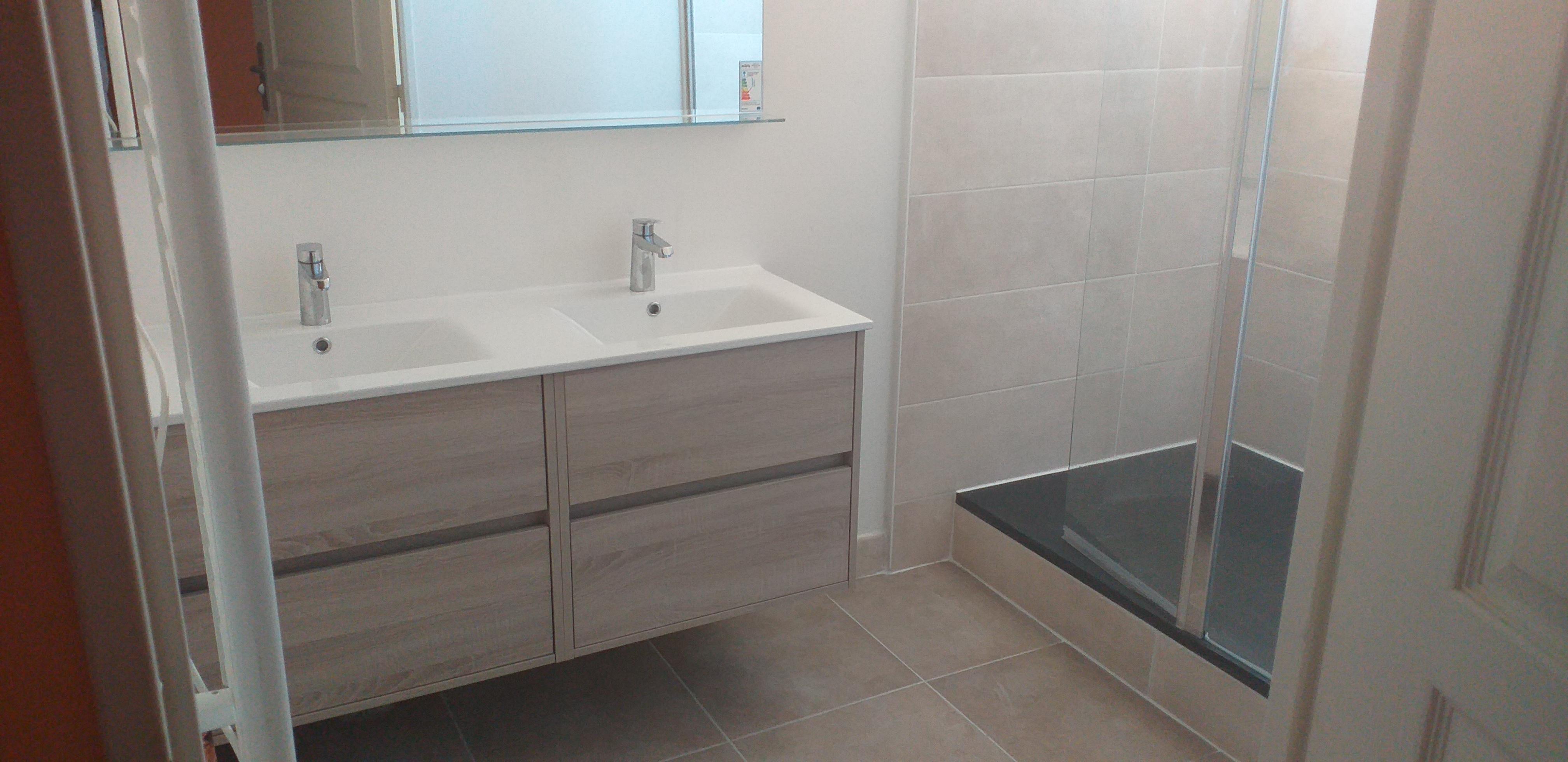plombier les sorinières, remplacement d'une baignoire par un receveur de douche aux sorinières
