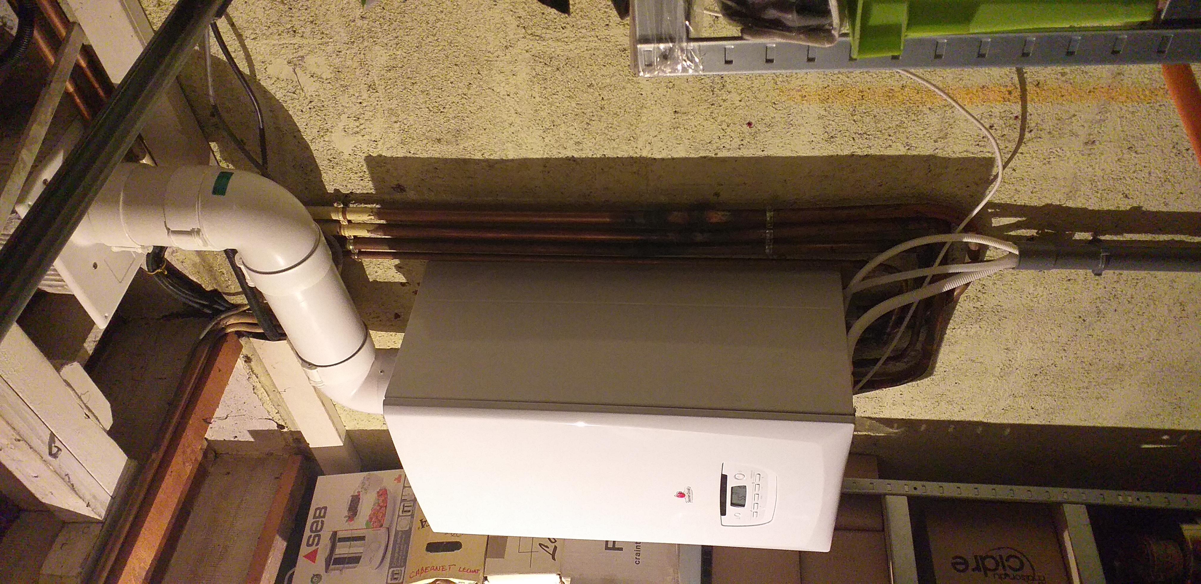Sainte-Pazanne, remplacement d'une chaudière non condensation par une chaudière gaz condensation saunier duval