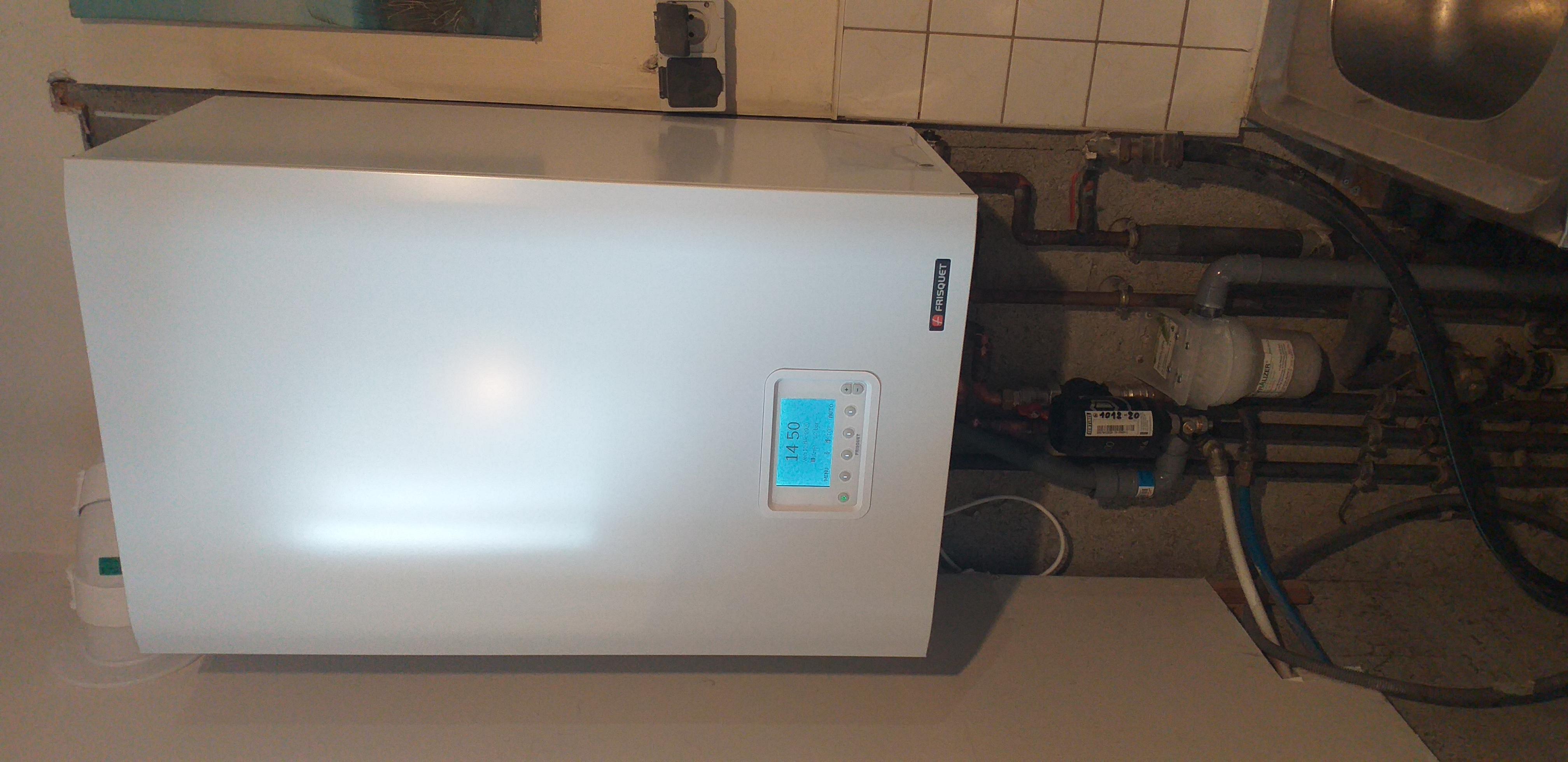 basse goulaine, remplacement d'une chaudière frisquet non condensation par une chaudière gaz condensation frisquet
